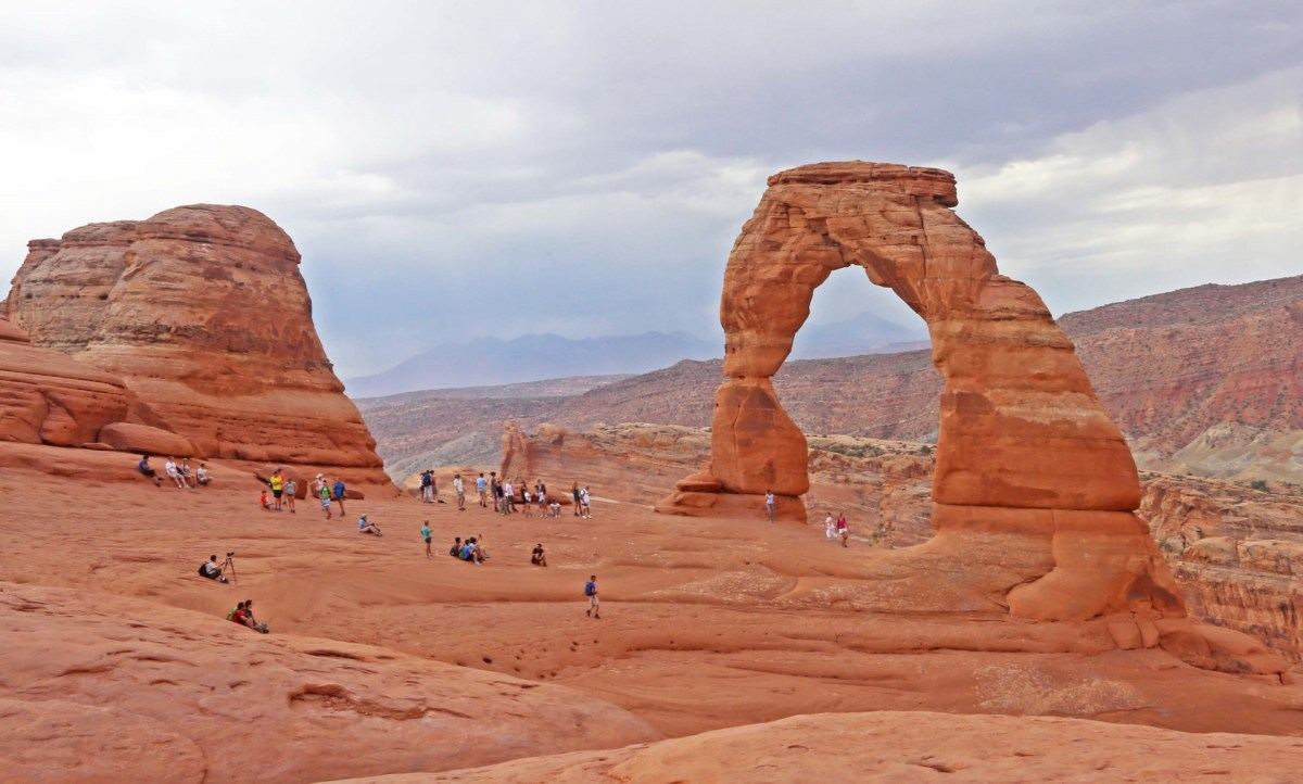 On May 7th, 2006 Dean Potter solo climbed the Delicate Arch in Utah. Many people felt this to be somehow sacrilegious, as the arch is considered a symbol of Utah's wild beauty.