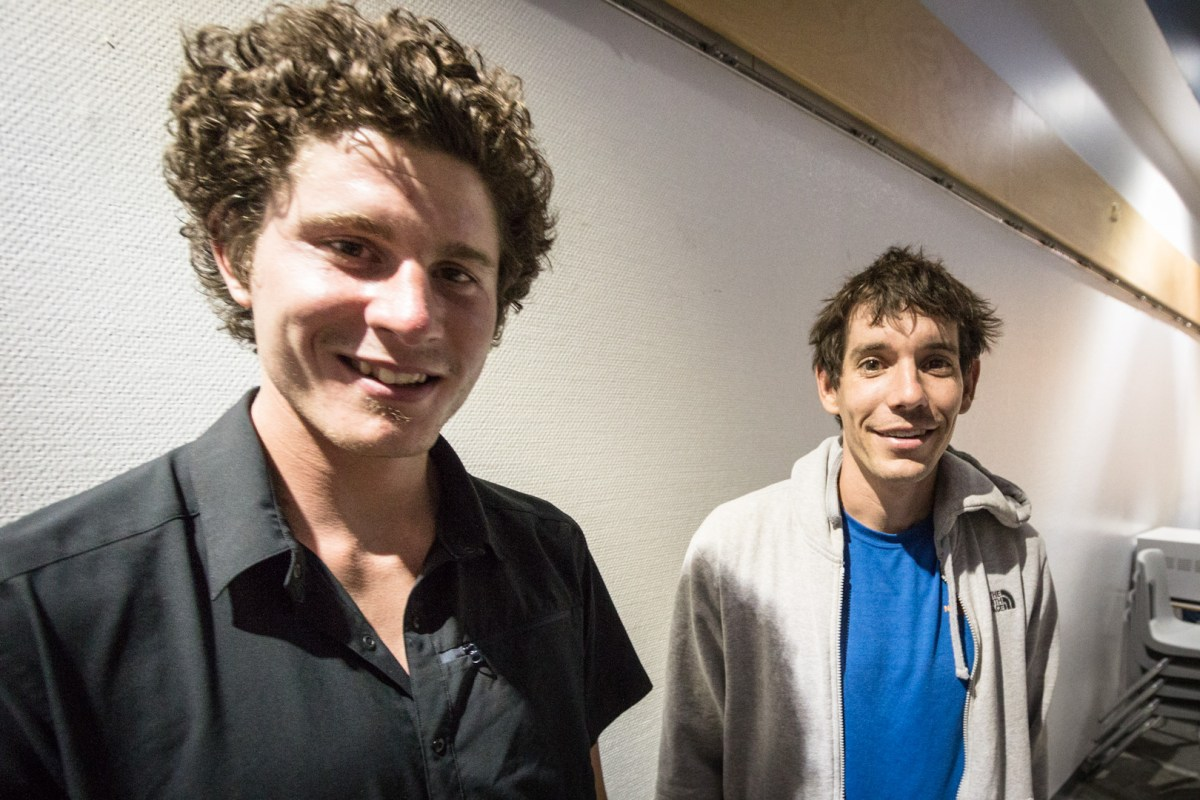 Marc-Andre Leclerc and Alex Honnold.