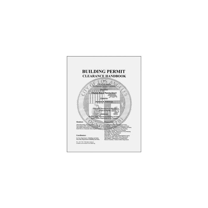 Building Permit Clearance Handbook: Builder's Book, Inc
