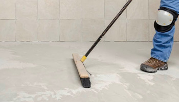how to tile a floor steps