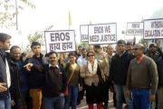 नेफोमा बैनर तले बायर्स ने किया इरोज बिल्डर के खिलाफ प्रदर्शन