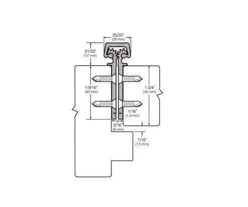 Door Controls 780112-95-DU Hager Roton Continous Hinge