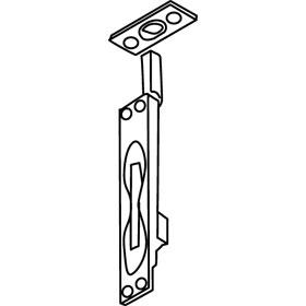 Trimco 3915 UL Manual Flushbolt, Satin Chrome