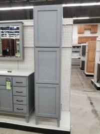 Quaker Gray Oak Linen Cabinet - Builders Surplus ...
