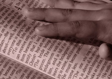 Bible hand