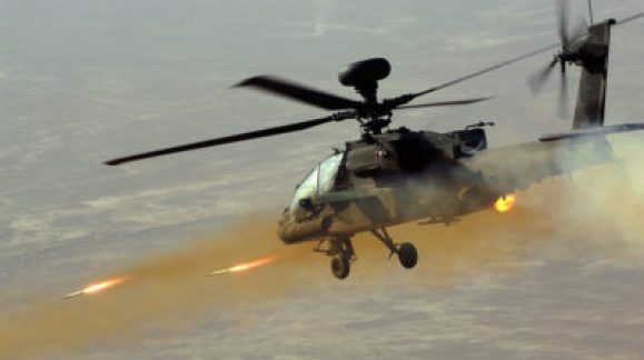 Image of an Apache helicopter