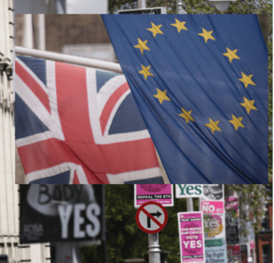 Informed voting? Brexit flags and signs