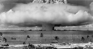 atomic bomb test on Bikini Atoll