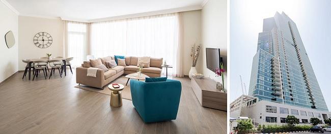 Al Bateen Residences - JBR Jumeirah Beach Residences Dubai - Building and Hall