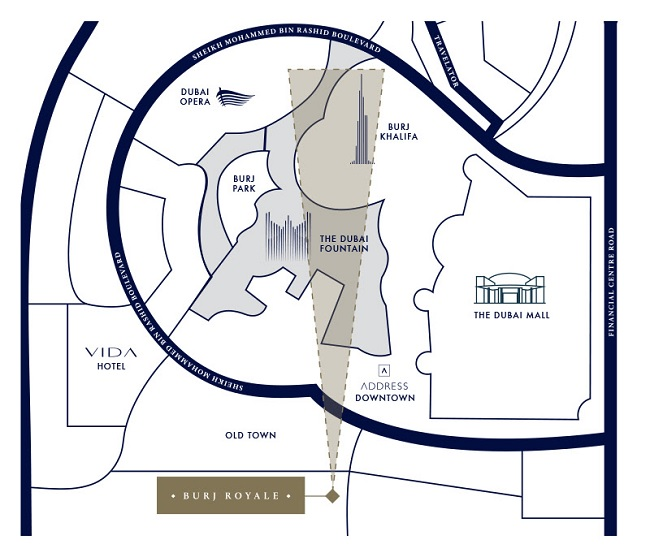 Burj Royale by Emaar - Location Map