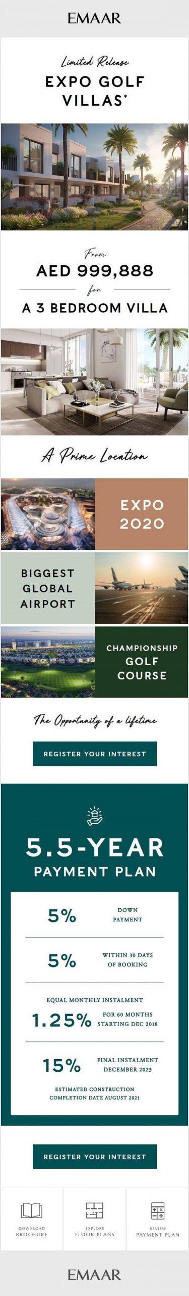 Expo Golf Villas - Emaar - Launch