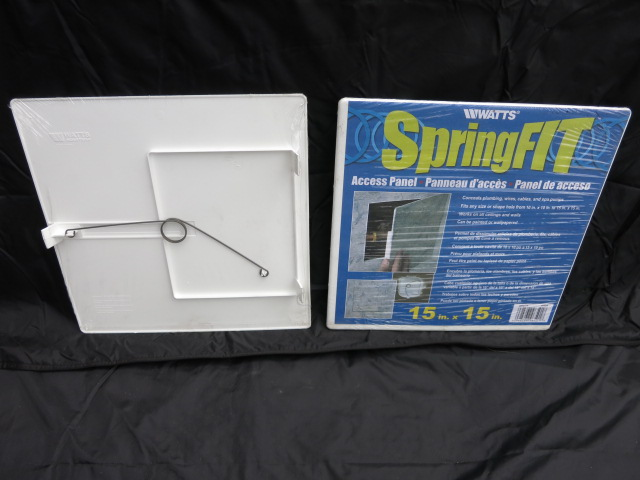Access Panel  Watts SpringFIT 15 x 15 inch  Seattle Home Inspection  BuildingMaster