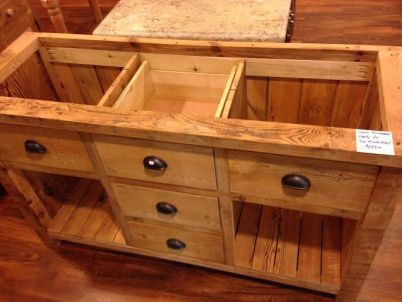 amish made reclaimed barnwood rustic vanity with drawers 60in
