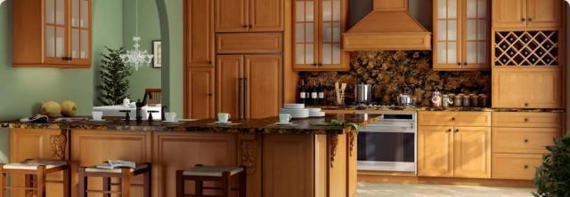 tsg forevermark k series honey-glaze rta cabinets kitchen
