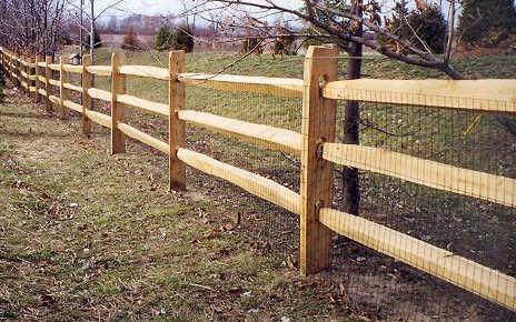 pressure treated split rail fence