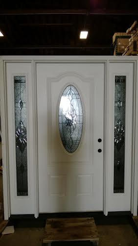 2  exterior door w sidelights decorative glass discount sale
