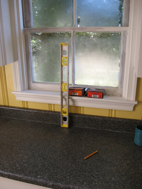 finding center on window for sink install in postform laminate