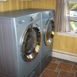 Washer & Dryer color matches my wife's eyes.