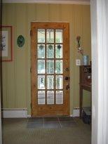 Dining room to rear exterior door.
