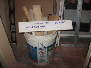 A Bucket of Wood: molding scraps become a wood molding library