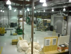 the lab floor at the National Association of Home Builders Research Center
