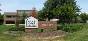 Welcome sign at the National Association of Home Builders Research Center