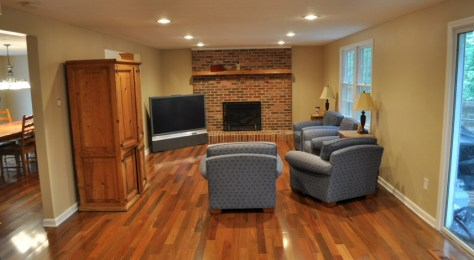 Brazilian Walnut Hardwood Flooring Family Room