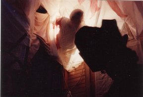 how to stage a haunted house :: artistic Halloween scene in the shadows pirate