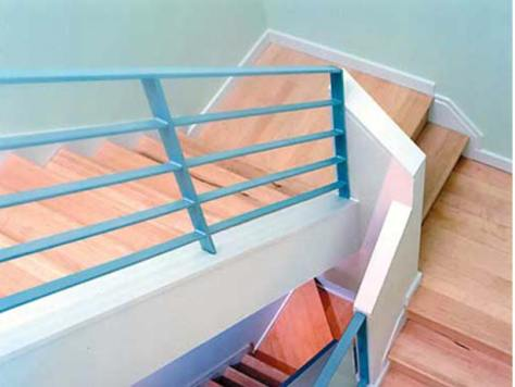 Baltimore Remodel :: seafoam architectural rail in Baltimore's Canton North Shores townhome