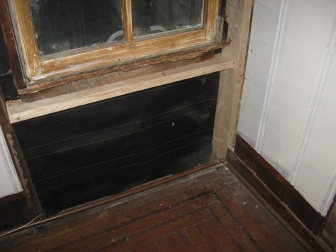 Wood Window Frame Repair :: my wood window (in process) termite eaten framing removed
