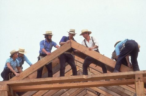 carpenter turned actor actor Harrison Ford in the movie Witness