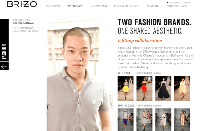 brizo faucets and jason wu and mercedes benz fashion week
