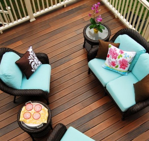 CertainTeed EverNew plastic decking outdoor living from above