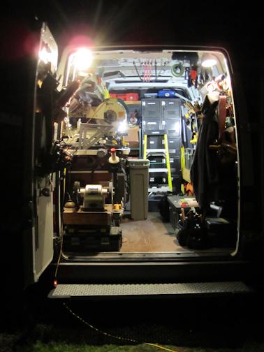 Sprinter Work Van Under Light by Barry Morgan