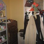 8x8 bedroom makes for a messy a closet or 3/4 bath