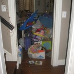 long overdue attic purging, children's toys to donation