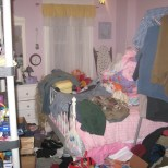 """on location with """"Hoarders""""room :: used for storage during remodel"""