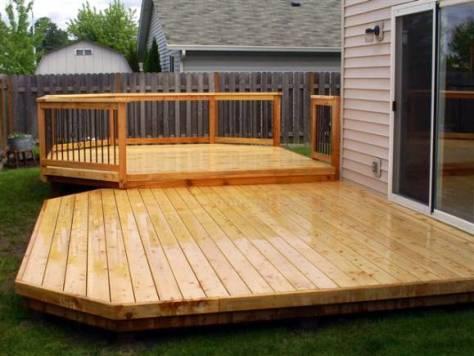 Low Rise Cedar Deck Recently Spring Cleaned image via Ricks Fencing