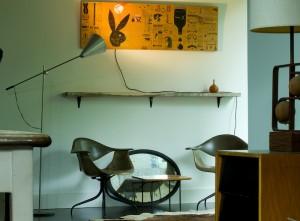 Vintage Wall Salvaged Shelf in the Modern 50 Studio
