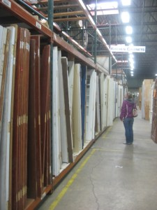 doors at the salvage yard