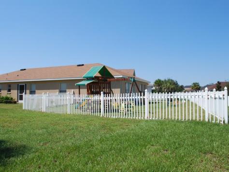PVC Fenced Lawn Bradenton Florida