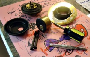 Baldwin deadbolt disassembled