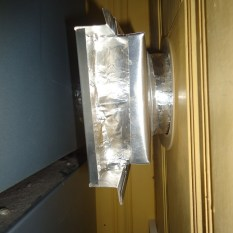 All Dryer Vent Seams Foil Taped