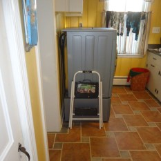Laundry Room Washer and Dryer Set Back