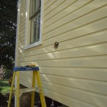 Dryer Vent Penetration Clapboard Siding 4 1/2 inch drilling