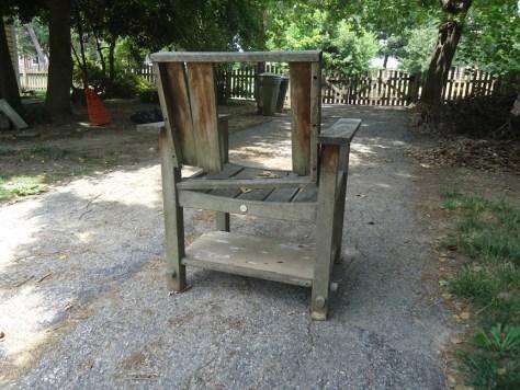 Teak Chair Salvaged for Shelf Brackets
