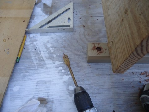 Counter Sinking for Screws and Bolts Done with a Paddle Bit