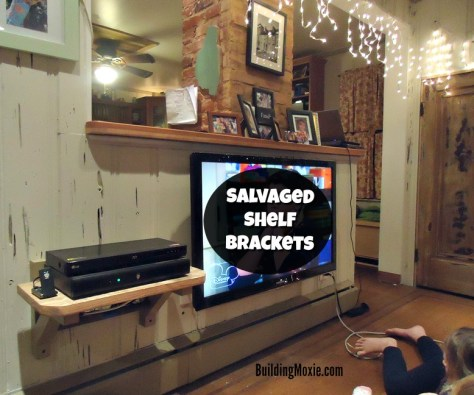 Repurposed Shelf Brackets from a Chair
