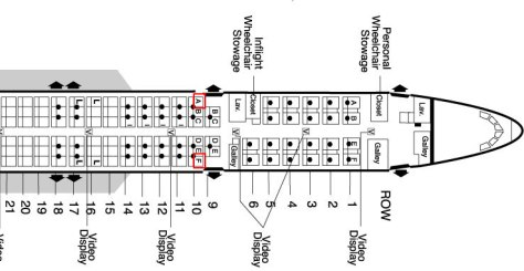 airplane seating secrets :: 757 seating chart