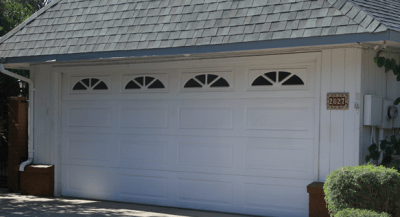 Garage-Door white 16 panel with Sunbursts